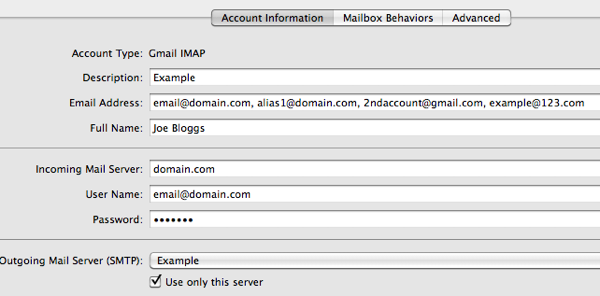 Send from any email address in Apple Mail