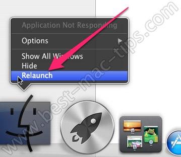 Restarting Finder OS X