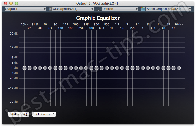 Free System Wide Audio Equalizer and VST AU and IRs in Mac OS X