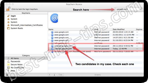 Fix for Fantasical Google calendar password issue