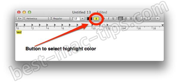How to highlight text in Apple Mail